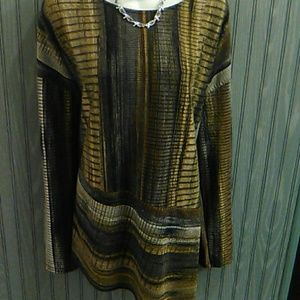 A Cato Geometric Long Tunic.Size XL,/2X